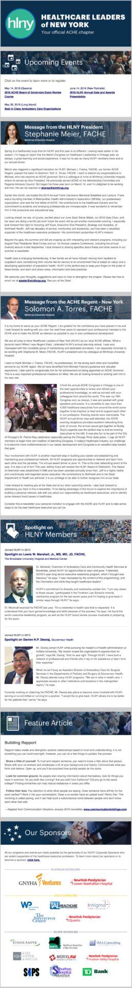 HLNY Spring 2016 Newsletter